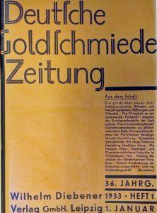 Aufsätze der Deutschen Goldschmiedezeitung