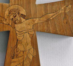 Intarsienkreuz 1947, Detail