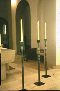 Altarleuchter Herz-Jesu, Dortmund-Hörde 1957
